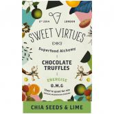 Sweet Virtues Chocolate Truffles Chia Seeds & Lime, 115 g