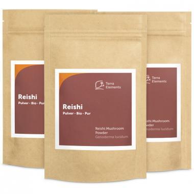 Organic Reishi Mushroom Powder, 100 g, 3-Pack