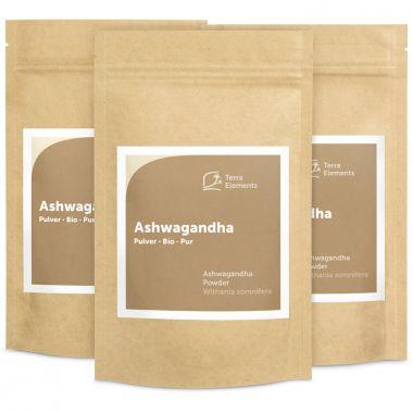 Organic Ashwagandha Powder, 100 g, 3-Pack