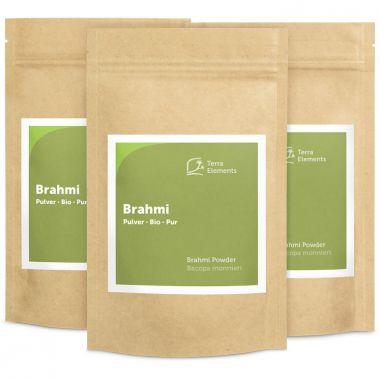 Organic Brahmi Powder, 100 g, 3-Pack