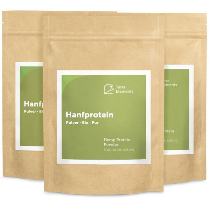 Organic Hemp Protein Powder, 250 g, 3-Pack