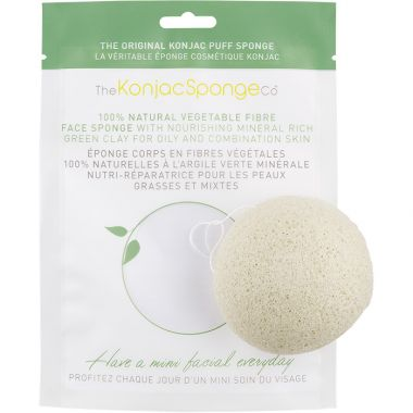 The Konjac Sponge Co. French Green Clay Konjac Sponge Puff